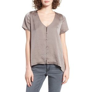 Nordstrom 4si3nna Satin Button Up Blouse